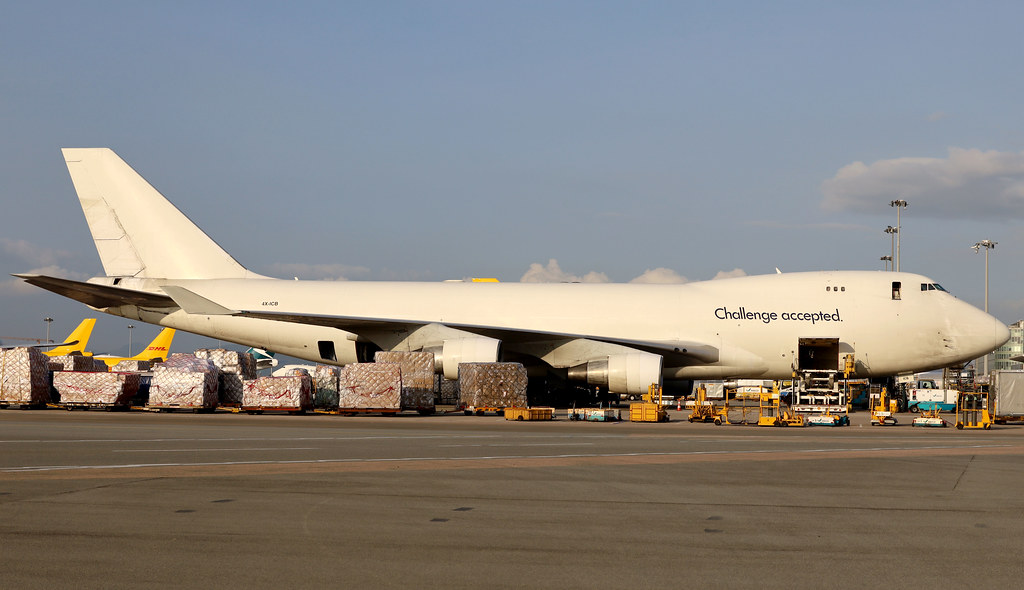 CAL Cargo Air Lines B747-400F 4X-ICB parked HKG/VHHH