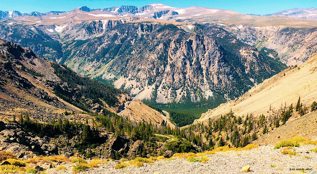 View of Hell Roaring Plateau from Lookout Point Just Above Rock Creek Vista Lookout, Beartooth Highway, Montana, USA