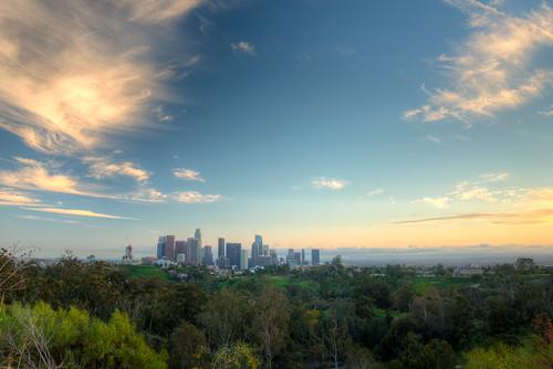 los angeles california la losangeles sunset city cityscape landscape elysian park
