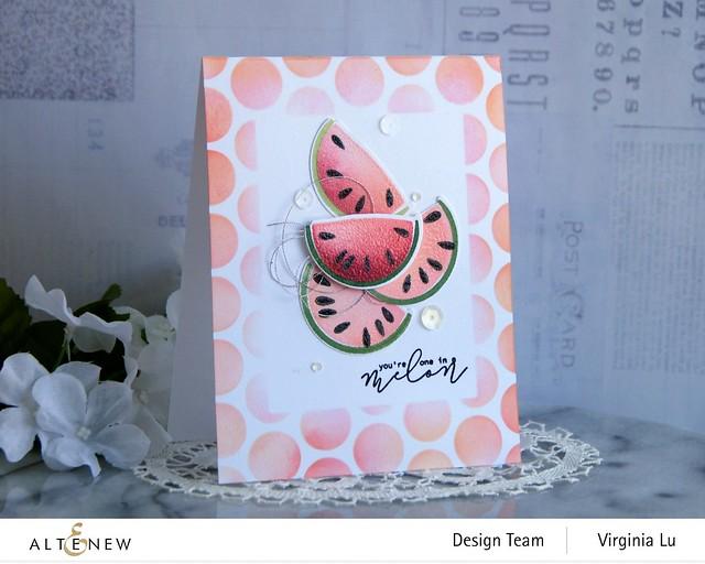 Altenew-MD One in a Melon-Bubble Wrap Stencil