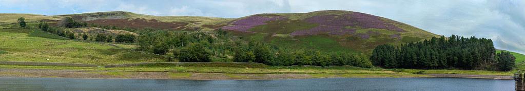 Pendle Hill & Churn Clough Reservoir panorama