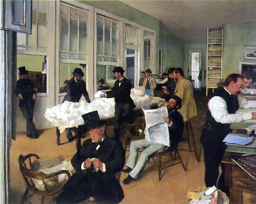 A Cotton Office in New Orleans1873-Degas