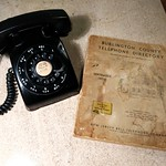 WE Model 500 Telephone with Vintage Directory