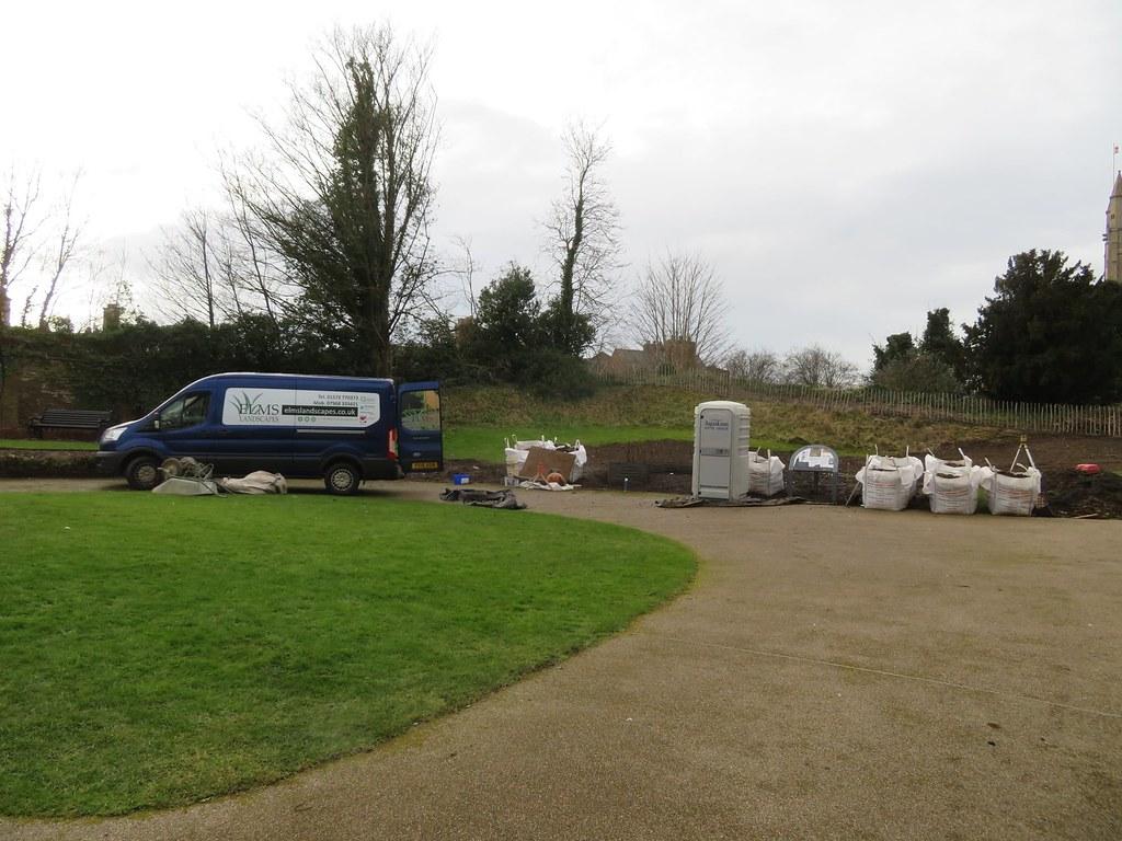 Contractors Sensory Garden Oakham Castle New Funded by Lottery Heritage Fund Oakham Rutland