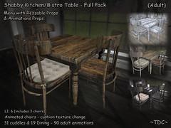 ~TDC~ Shabby Kitchen/Bistro Table