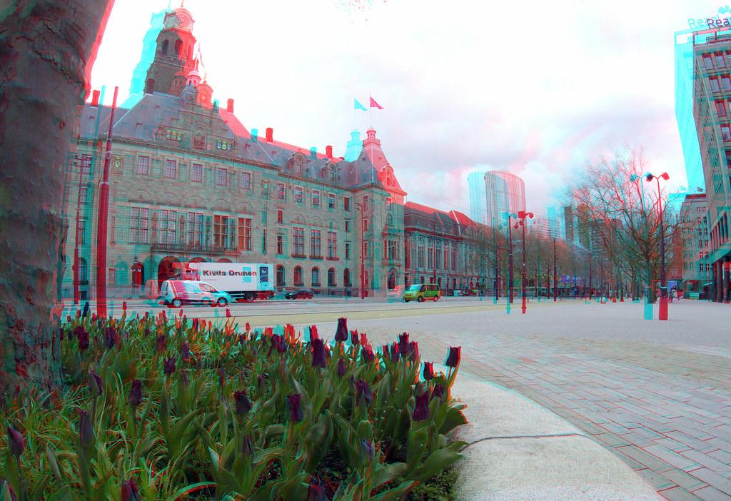 Coolsingel Rotterdam 2021 april 3D GoPro