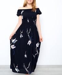 Karpuz Kol Elbise Siyah