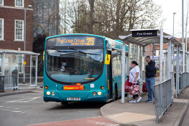 Chaserider 197, Cannock bus station, April 2021