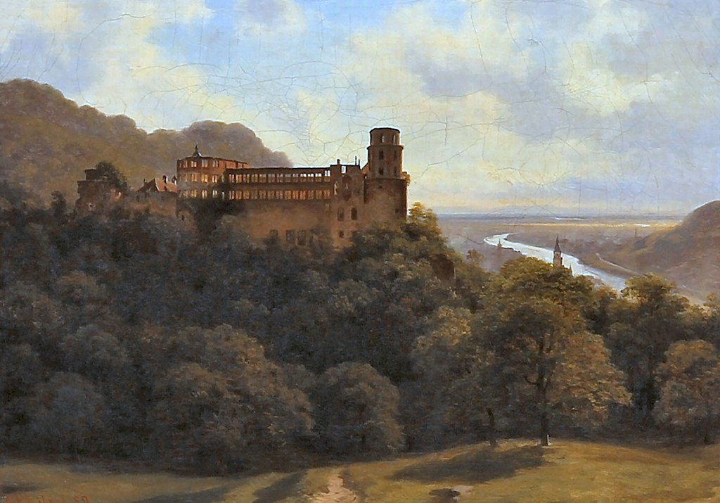 libert, georg emil - Landscape with the Heidelberg Castle