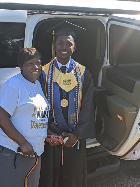 Donovan Evins and his grandmother, Lillie Bogan