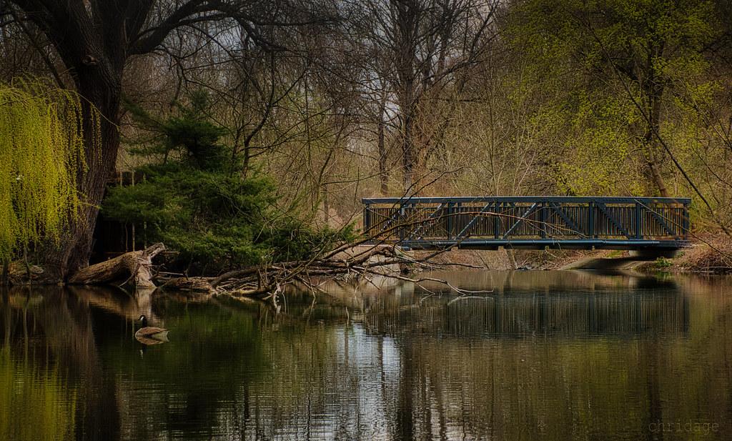 Kleine Brücke an der Amper