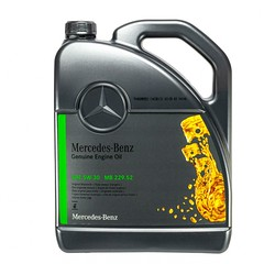 Mercedes 5W-30 Motor Oil MB 229.52 - Fully Synthetic Diesel A000989950213AMEW 1x5L