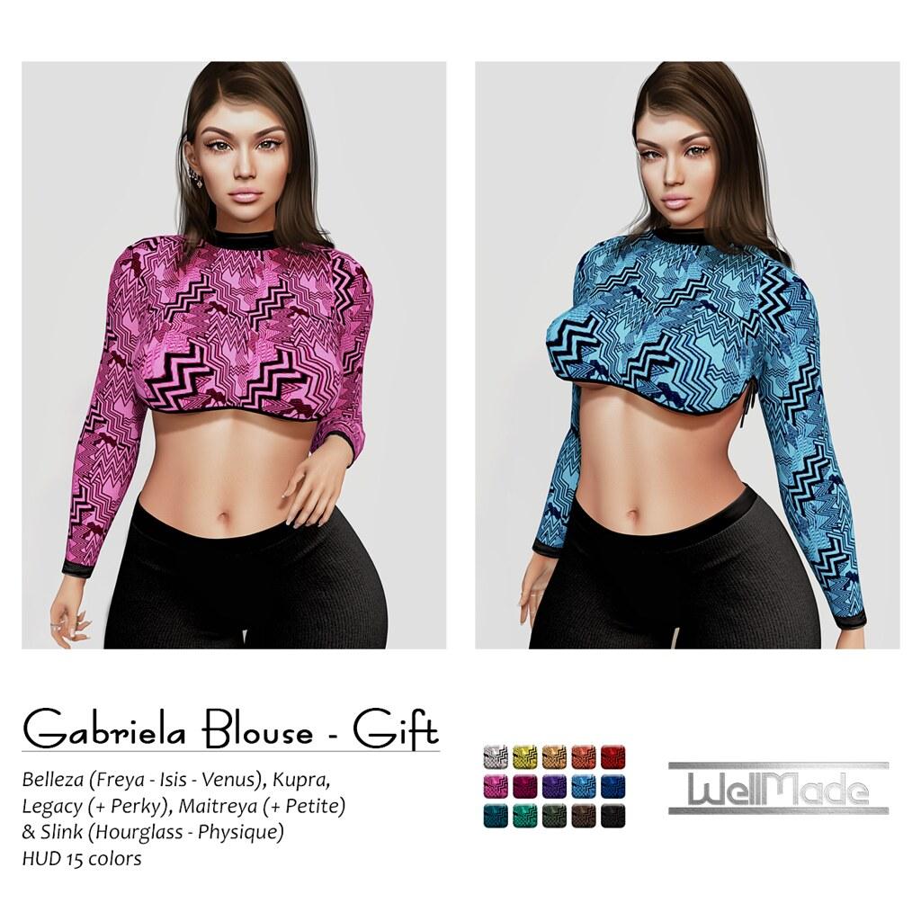[WellMade] Gabriela Blouse - GIFT