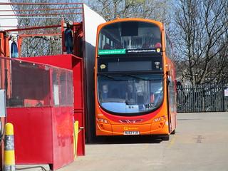Go North East 6098. 'The Works', Saltmeadows Road Depot. Gateshead