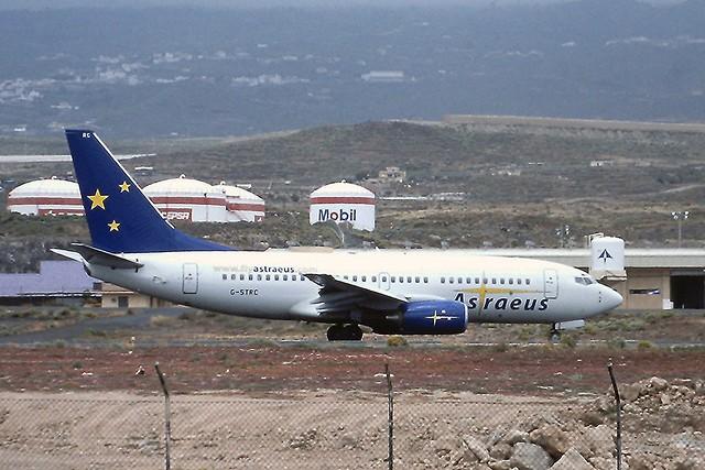 G-STRC B737-700 Astraeus Tenerife Sur 18-04-2003