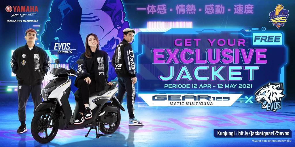 Exclusive Jacket GEAR 125 x EVOS