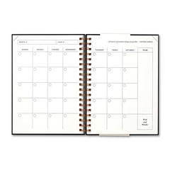 kindness quotes : 17 Month Undated Planner-Black