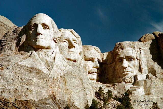 Mount Rushmore National Memorial Located in the Black Hills in Keystone, South Dakota, USA