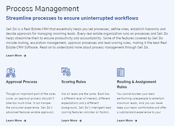 Real Estate CRM With Comprehensive Feature Set-Process Management