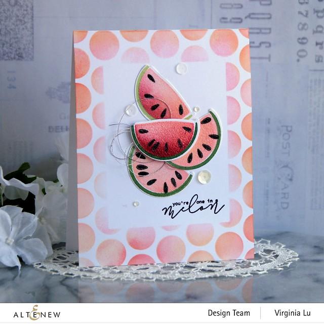 Altenew-MD One in a Melon-Bubble Wrap Stencil -001