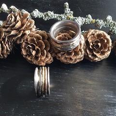 Bju00f6rg, Spinning ring i guldfu00f6rgyllt, Rose och silver.