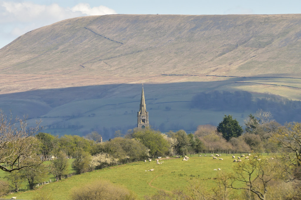 Pendle Hill and Christ Church Chatburn