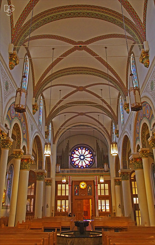 newmexico santafe cathedral stfranciscathedral cathedralbasilicaofsaintfrancisofassisi ceiling interior font rosewindow