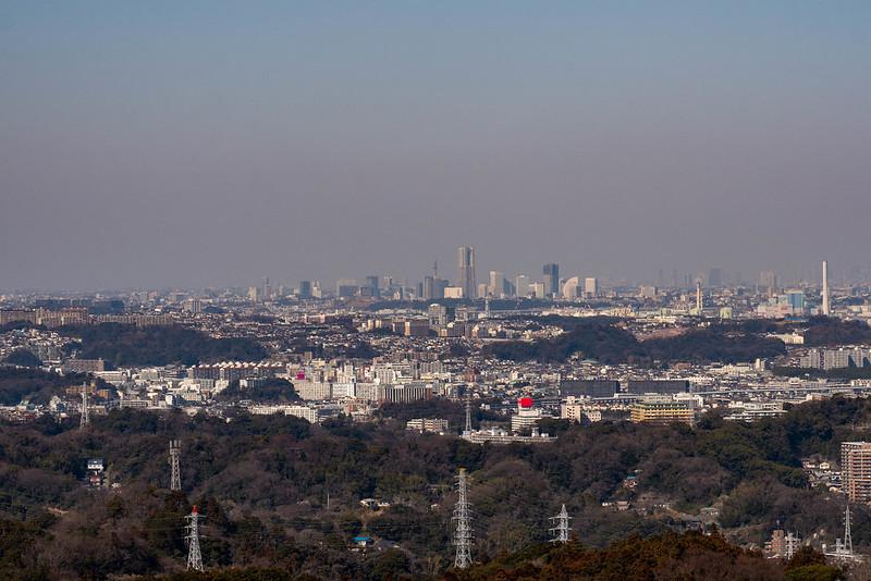 乳頭山から見える横浜の街