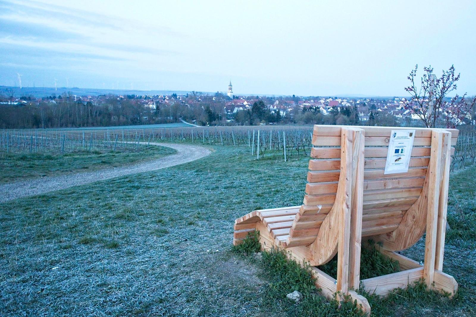 Wohlfühlbank mit Blick auf Gau-Odernheim