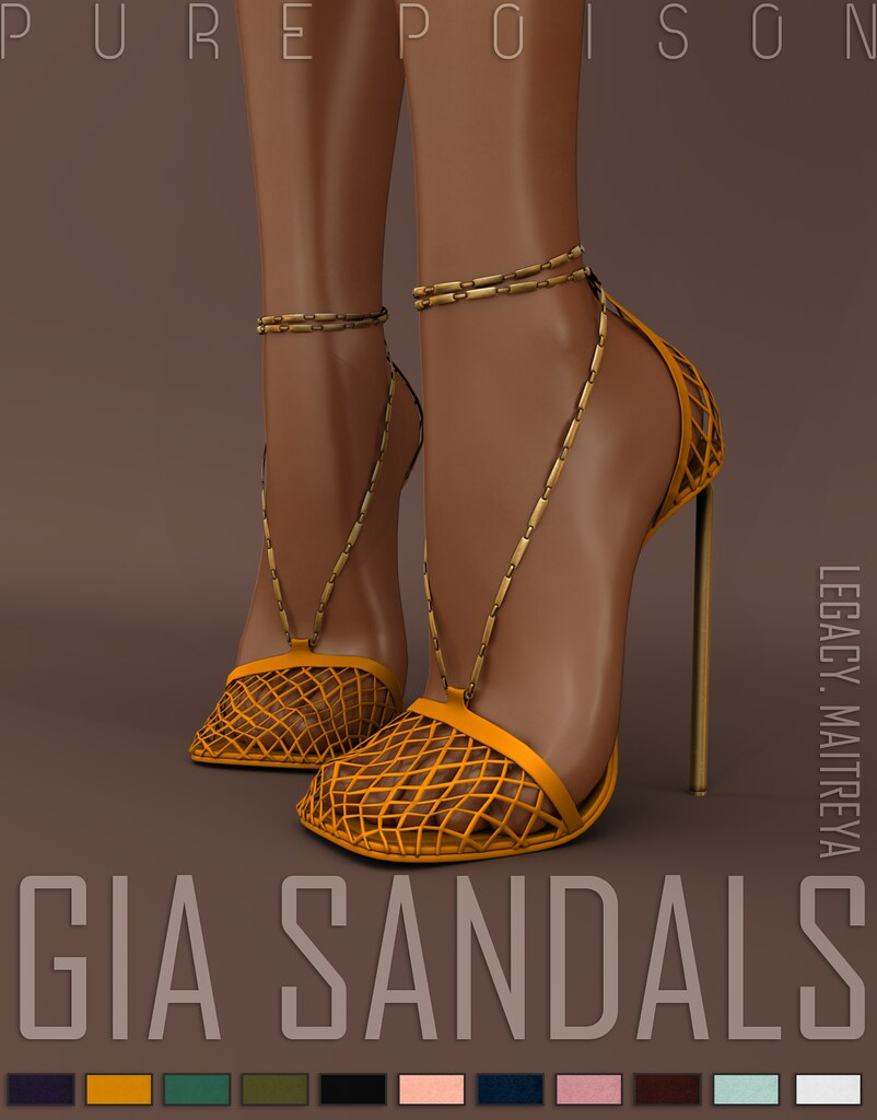 Pure Poison - Gia Sandals - Collabor88