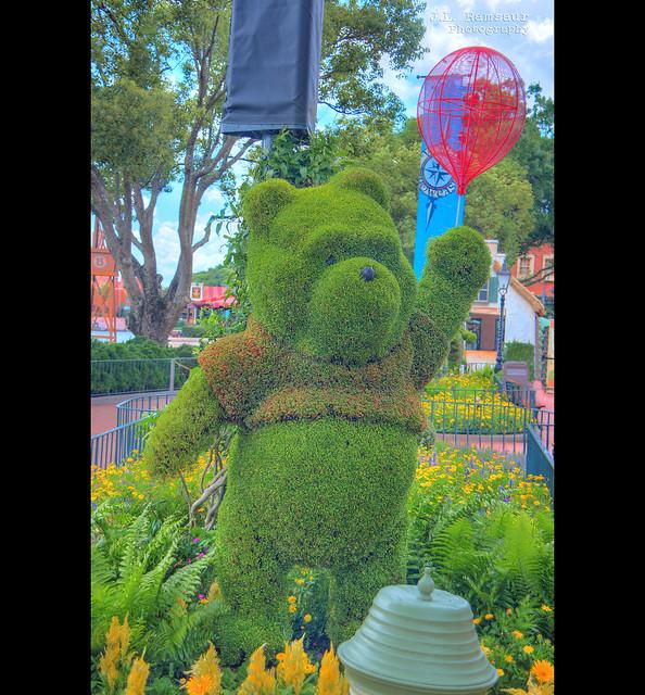 Floral Winnie the Pooh - Disney's Epcot
