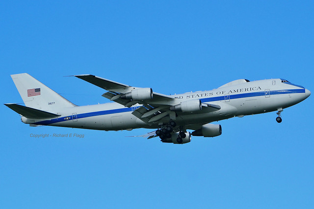 73-1677 : Boeing E-4B at Stansted.