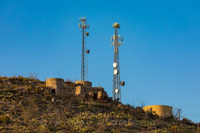 Utilities above Whites City near Carlsbad Caverns