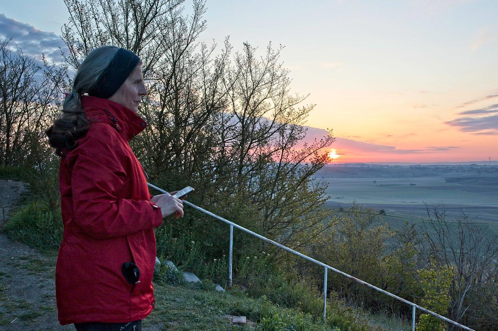 Sonnenaufgang auf dem Petersberg