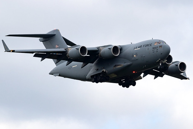 09-9207 United States Air Force Boeing C-17 Globemaster London Stansted