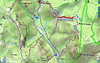 Carte IGN de la basse vallée du Cavu avec les traces des travaux de l'operata du 11/04/2021