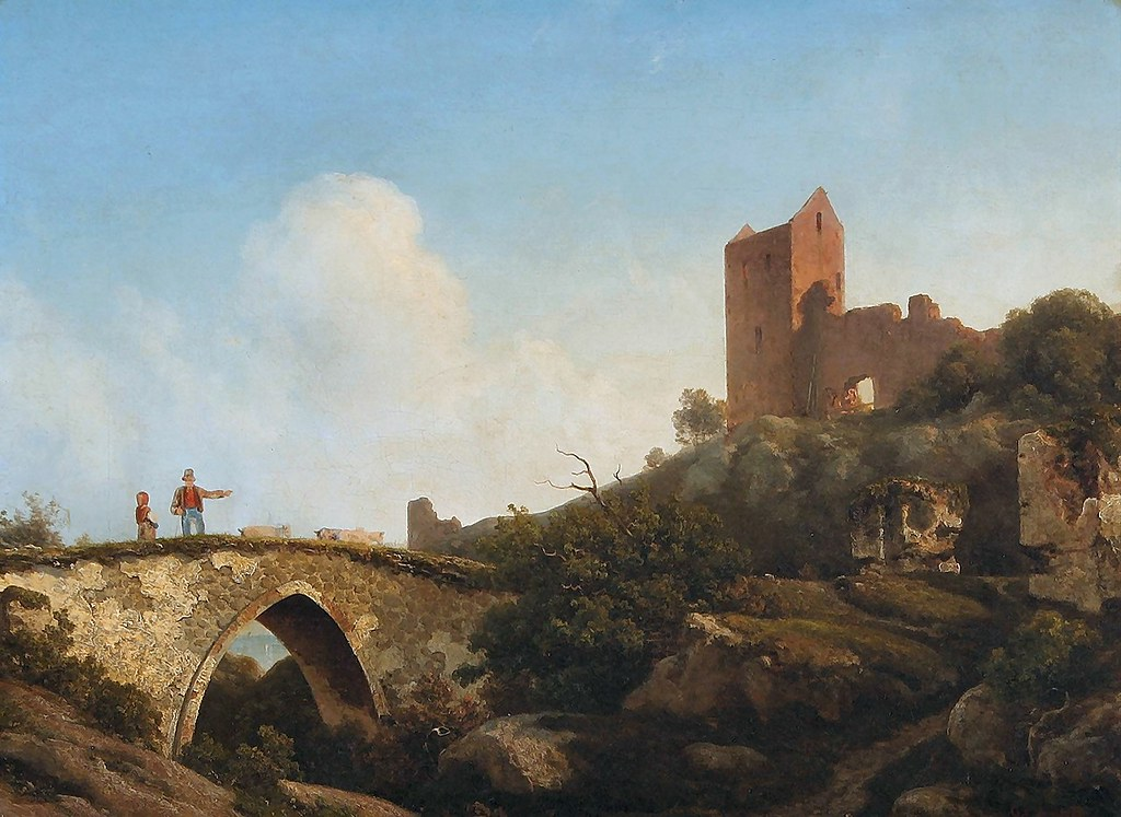 libert, georg emil - Landscape with the Ruins of Castle Hammershus, Bornholm