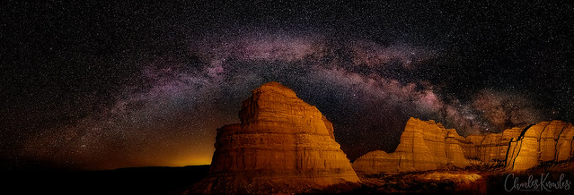 Milky Way over the Pillars of Rome in Oregon