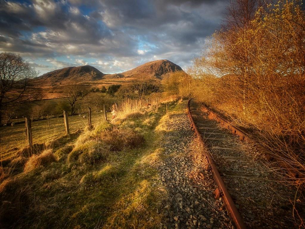 Manod  Mawr and Manod Bach from the deserted Bala to Blaenau Ffestiniog railway