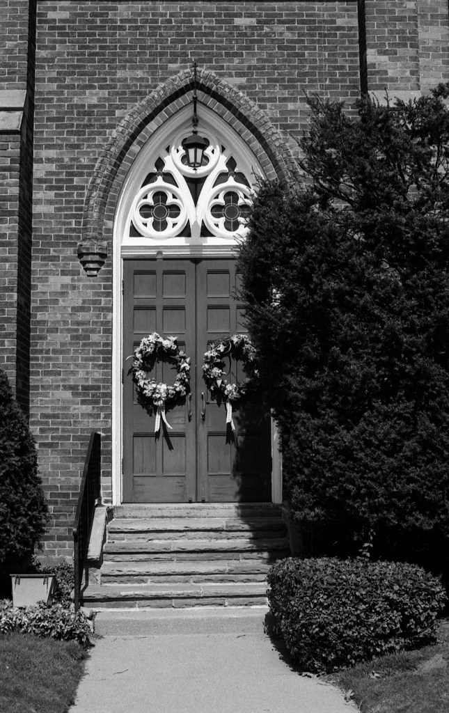 Wreathes on the Church Doors_