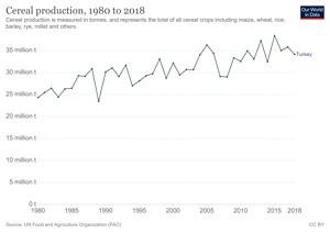 Türkiye'de Yıllara Göre Tahıl Üretimi