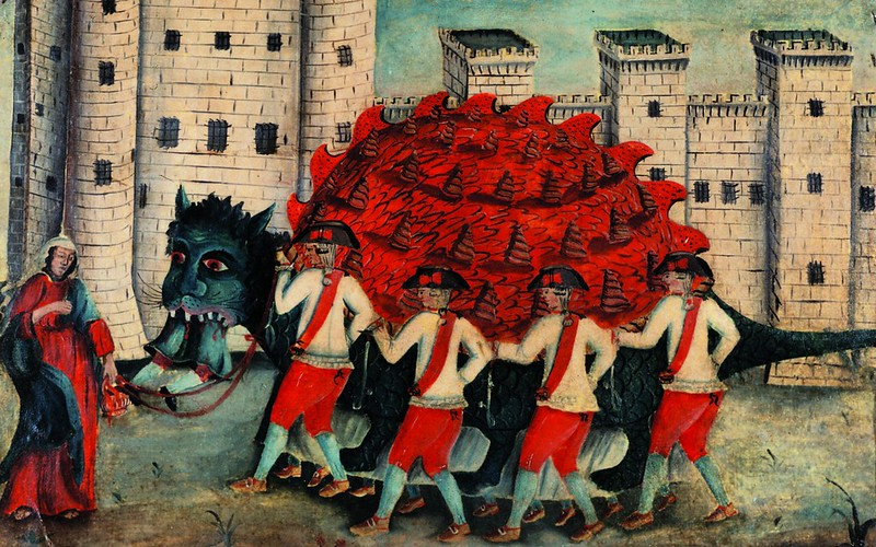 Painting of the legendary Tarasque, 1788