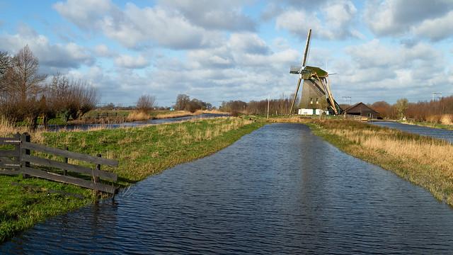Mill in the Dutch landscape