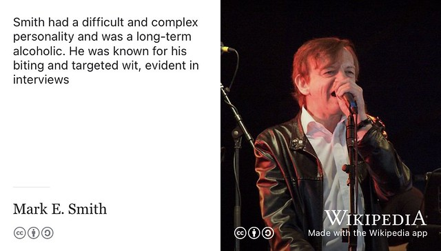 A difficult and complex personality: Mark E. Smith #TheFall #MarkESmith