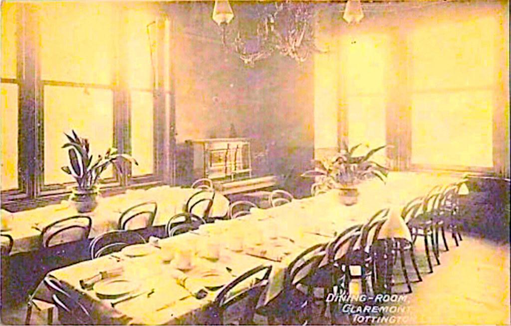 Claremont DinningRoom Old Postcard