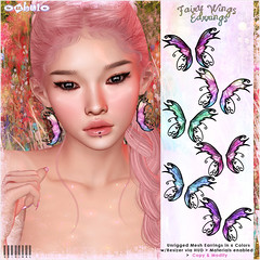 [ bubble ] Fairy Wings Earrings