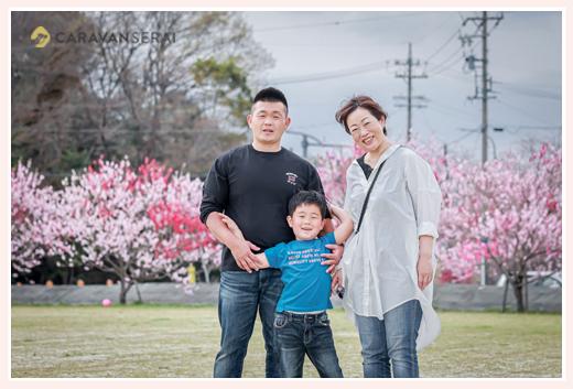 家族の写真 春 ハナモモの季節