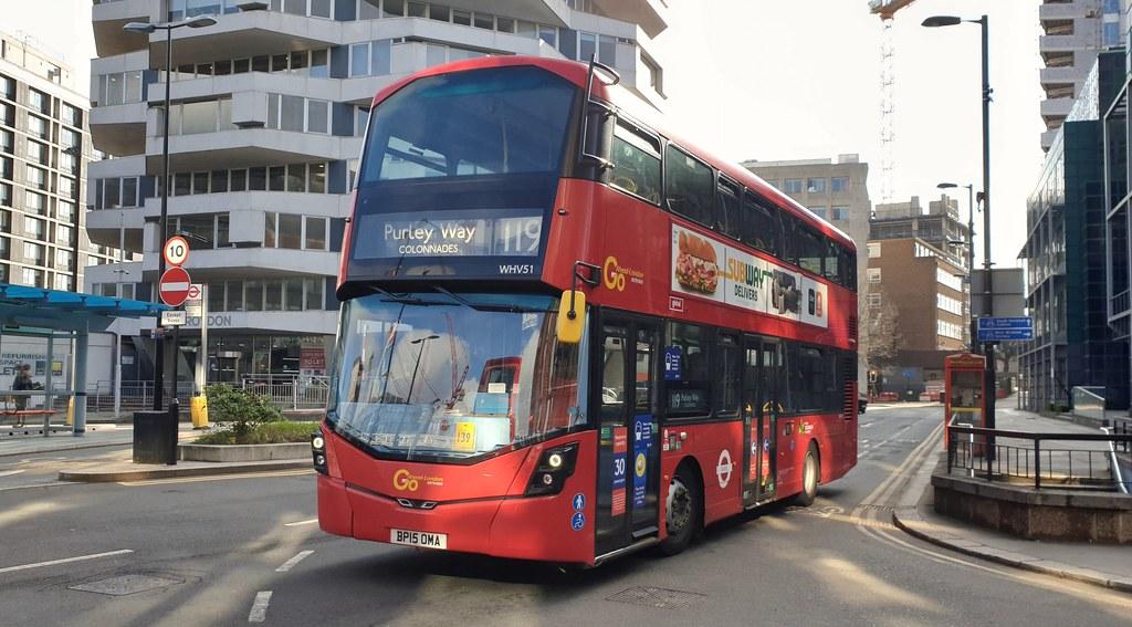 Go-Ahead London WHV51 (BP15 OMA) East Croydon 16/4/21