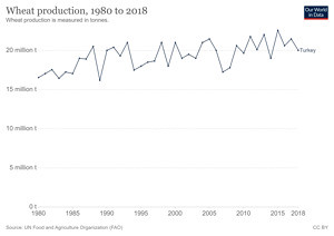 Türkiye'de Yıllara Göre Buğday Üretimi