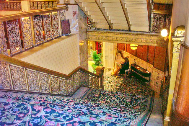 Denver Colorado ~ Brown Place Hotel ~ Harp Player~ Historic